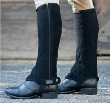 NEW Adult Dublin Easy Care Half Chaps - Black - Various Sizes