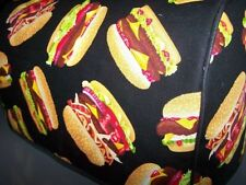 Cheeseburgers Hamburgers Quilted Fabric 2-Slice or 4-Slice Toaster Cover NEW