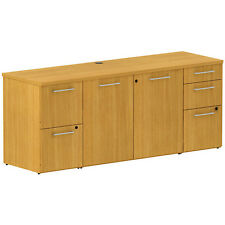 """MODERN 72"""" CABINET CREDENZA Office Conference Storage Sideboard Furniture Cherry"""