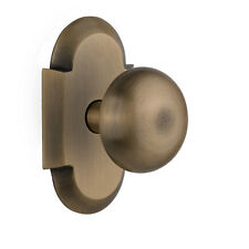 Nostalgic Warehouse New York Privacy Door Knob with Cottage Plate