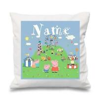 PERSONALISED  CUSHION COVER PEPPA PIG GEORGE PIG FAMILY  KIDS ROOM NEW FREE P&P