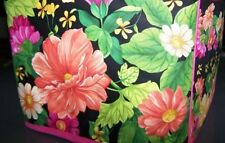 Zinnia Flowers Quilted Fabric 2-Slice or 4-Slice Toaster Cover NEW