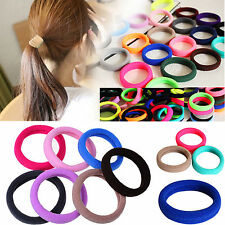 10x Colorful Elastic Rope Ring Hairband Women Girls Ponytail Holder Hair Band TB