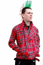 Tiger of London Red Tartan Punk Zip Jacket by Tiger of London