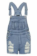 ew Womens Ladies Denim Dungarees Jumpsuit Summer Casual Pinafone