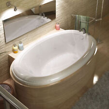 """Spa Escapes Martinique Dream Suite 70"""" x 42"""" Oval Air & Whirlpool Jetted Bathtub"""