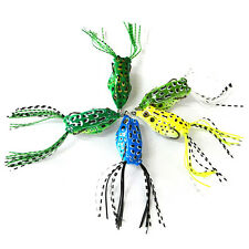 1X Cute Small Frog Topwater Fishing Lure Crankbait Hooks Bass Bait Tackle HYDG