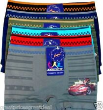6 pk Boys Seamless Boxer Briefs Spandex Shorts Cars Lot Underwear B11110 Small S