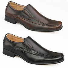 Mens Gents Black Brown Leather Lined Brogues Smart Suit Work Formal Shoes 6 - 12