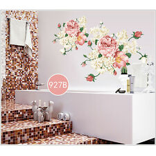 DIY Peony Flowers Vinyl Art Removable Wall Decals Sticker Mural Home Room Decor