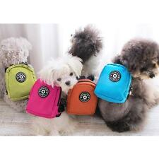 Pet Dog Bag Backpack Harness Nylon Training Traction School Bag leash Lead Strap