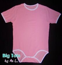 Adult Baby PRETTY PINK  Bodysuit snap crotch  *Big Tots by MsL*