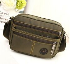 Mens Vintage Canvas Leather Satchel School Military Shoulder Bag Messenger Bag
