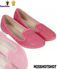 Ladies Womens Flats Casual Slip On Ballet Loafers School Office Pumps Shoes Size