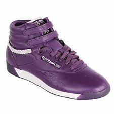 Reebok Freestyle Hi INT Alicia Keys Purple Leather High Top Trainers Sneakers