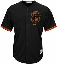 San Francisco Giants Cool Base Jersey Home Black Plus Sizes Majestic MLB