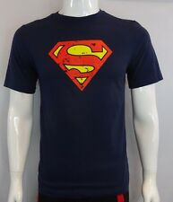 YOUTH SUPERMAN CLASSIC LOGO MAN OF STEEL DC COMICS OFFICIAL NAVY T-SHIRT S-XL