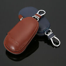 Auto Car Key Genuine Cow Leather Case Pouch Remote Keychain Key Bag Holder