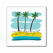 ArtWall 'Beach Day Palms II' by Jan Weiss Print of Painting on Canvas