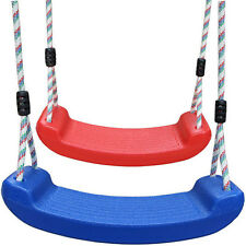 Kids Adult Plastic Swing Seat Playground Swing Set With Climbing Rope Play Set