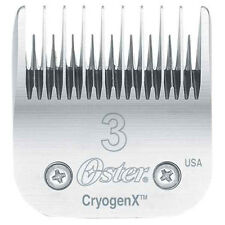 Oster CryogenX  AgION Dog Pet Grooming Steel Clipper Blade Size 3 MADE IN USA