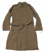 Double Ralph Lauren RRL Mens Brown Trench Coat Belted Fully Lined Jacket L XL