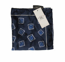 Double Ralph Lauren RRL Mens Hand Made In Italy 100% Silk Pocket Square New