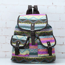 Women Casual Daypack Travel Backpack Colourful Bag Schoolbag Bookbag Satchel New