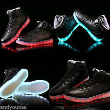 High Top LED Light Lace Up Unisex Sportswear Sneaker Luminous Shoes Casual Sport