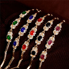 Charming 18k Yellow Gold Filled Flash New Style Colors Austrian Crystal Bracelet