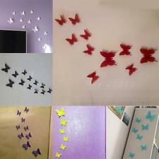 12 pcs 3D Butterfly Sticker Art Wall Stickers Decals Decorations Home Decor HYDG