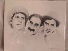 """Signed Marx Brothers lithograph 24"""" x 20"""" 1991"""