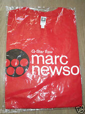 G-Star Raw Retrospective T-Shirt Red The Marc Newson 2005 M L New REDUCED PRICE!