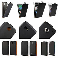 Black Skin Luxury Genuine Leather Vertical Flip Magnetic Phone Case Cover Pouch