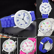 Fashion Women Watches Analog Silica Jelly Gel Band Quartz Sport Wrist Watch Gift