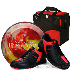 Bowling Ball Set Pro Bowl Polyester Ball + Bowling Shoes + Bowling Bag