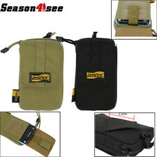 1050D Cordura Tactical Lanyard Big Screen Smart Phone Pouch Case Black/Tan