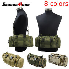 Tactical  Multi-purpose Molle Waterproof Pouch Waist Handbag Shoulder Bag 600D