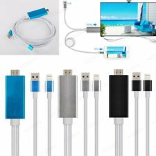 2M 8Pin HDTV HDMI Cable USB Adapter Video TV Connector  for iPhone 55c/6/6s iPad