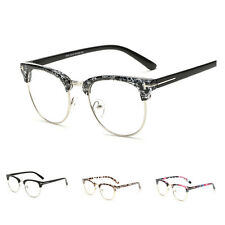 Mens Retro Clear Lens Spectacles Glasses Frame Women Nerd Geek Eyewear Unisex