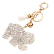 new Elephant Key chain ring Crystal Keychain Keyring Metal Pendant