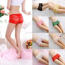 Womens lace Boy Shorts Floral Boxers Comforty Briefs Knickers Panties Underwear