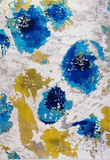 Abstract Multi-Color Modern Area Rug Contemporary Bright Colorful Rugs Carpet