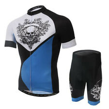 A Skull Cycling Bike Short Sleeve Clothing Bicycle Sportswear Jersey Shorts Suit