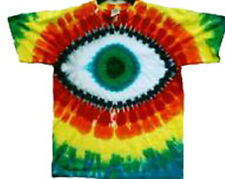 Hand-dyed Tie Dye Hand-dyed T-shirt GREEN EYE CYCLOPS SIZE SMALL TO 4X
