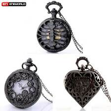 3PCS Bulk Vintage Necklace Pocket Watch Quartz Pendant Chain Gift Wholesale