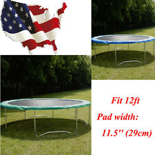 Green/Blue Safety Round Frame Pad Spring Pad Replacement Cover f 12FT Trampoline