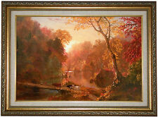 'Autumn in North America' by Frederick Edwin Church Framed Painting Print