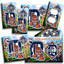 DETROIT TIGERS COMERICA STADIUM BG BASEBALL LIGHT SWITCH OUTLET WALL PLATE COVER