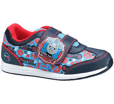 Boys Size 5 - 10 Blue THOMAS THE TANK ENGINE Velcro Trainers Shoes NEW Weld